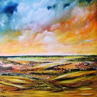 Susanne-Koettgen-Landschaft-Ebene-Natur-Luft-Moderne-Moderne
