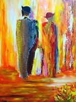 Susanne-Koettgen-Menschen-Familie-Abstraktes-Moderne-Expressionismus-Abstrakter-Expressionismus