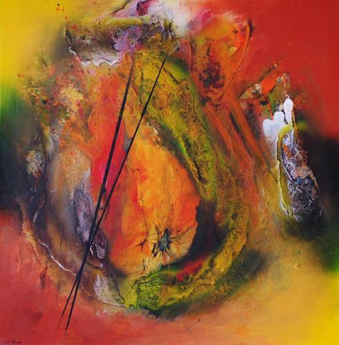 Susanne Köttgen, Erntedank, Abstraktes, Fantasie, Abstrakter Expressionismus, Expressionismus