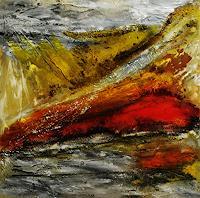 Susanne-Koettgen-Abstraktes-Landschaft-Berge-Moderne-Expressionismus-Abstrakter-Expressionismus