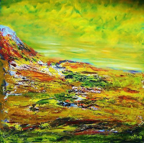 Susanne Köttgen, Island, Landschaft: Hügel, Moderne, Expressionismus