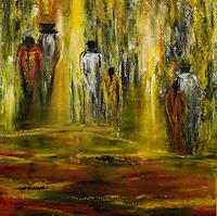 Susanne-Koettgen-Menschen-Paare-Landschaft-Sommer-Moderne-Expressionismus-Abstrakter-Expressionismus