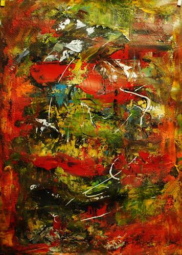 Susanne Köttgen, Kleinigkeiten, Abstraktes, Fantasie, Abstrakter Expressionismus