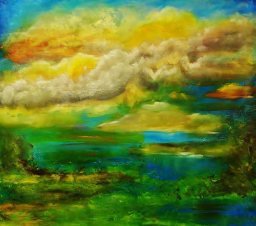 Susanne Köttgen, Landscape, Diverse Landschaften, Landschaft: See/Meer, Gegenwartskunst, Expressionismus