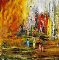 Susanne-Koettgen-Menschen-Gruppe-Natur-Wald-Moderne-Expressionismus-Abstrakter-Expressionismus