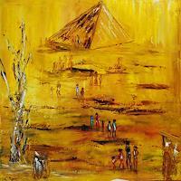 Susanne-Koettgen-Menschen-Gruppe-Landschaft-Ebene-Moderne-Expressionismus-Abstrakter-Expressionismus