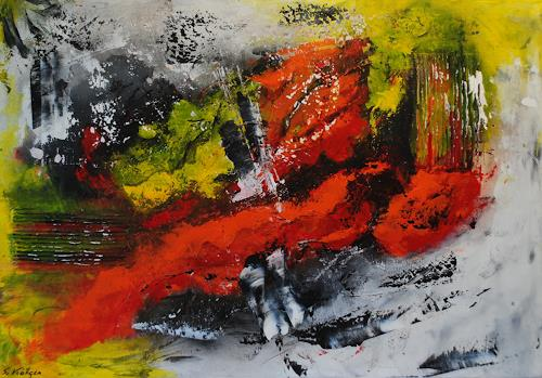 Susanne Köttgen, Ein Stück des Weges, Abstraktes, Abstrakter Expressionismus
