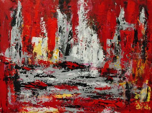 Susanne Köttgen, Geduld, Abstraktes, Fantasie, Abstrakter Expressionismus