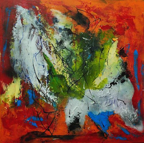 Susanne Köttgen, Glücklich leben in der Natur, Abstraktes, Fantasie, Abstrakter Expressionismus