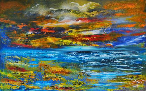 Susanne Köttgen, Farben der Hoffnung, Landschaft: See/Meer, Landschaft: Ebene, Abstrakter Expressionismus, Expressionismus