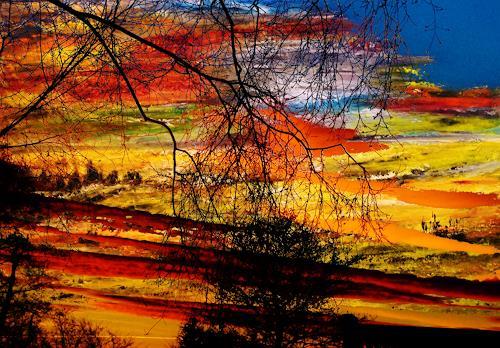 Susanne Köttgen, Das Licht, Landschaft: Ebene, Natur, Land-Art, Expressionismus
