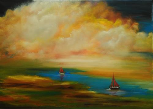 Susanne Köttgen, Landscape, Landschaft, Natur, Abstrakter Expressionismus