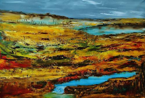 Susanne Köttgen, Herkunft des Glücks, Landschaft: Berge, Landschaft: Ebene, Abstrakter Expressionismus