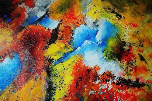 Susanne Köttgen, Detailansicht von Nr. 4 /   2019, Abstraktes, Abstrakter Expressionismus