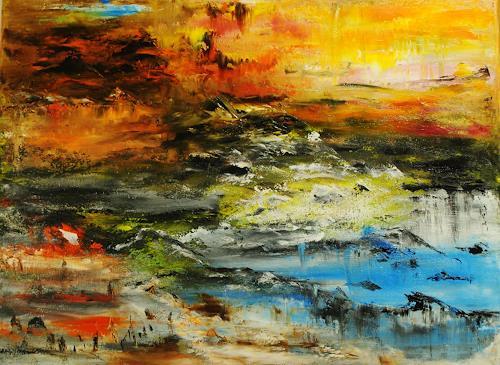 Susanne Köttgen, Die Natur spricht / Landscape, Landschaft, Natur, Abstrakter Expressionismus