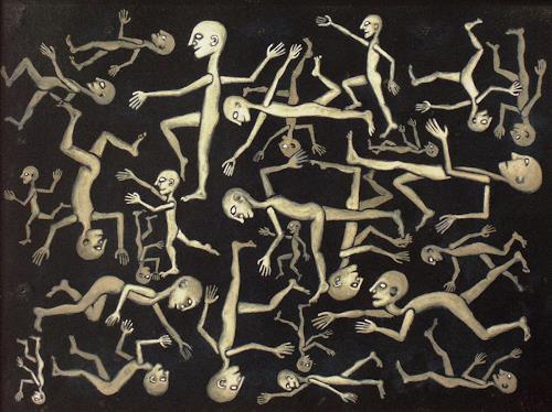 Fulvio Martini, All together into the dark, Gesellschaft, Abstrakter Expressionismus