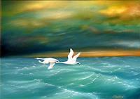 Roland-Raabe-Landschaft-See-Meer-Tiere-Luft