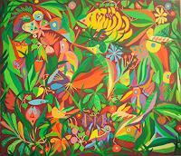 Mimi-Revencu-Natur-Wald-Landschaft-Tropisch-Gegenwartskunst-Gegenwartskunst