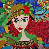 Mimi-Revencu-Menschen-Frau-Gefuehle-Freude-Moderne-Jugendstil