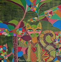 Mimi-Revencu-Tiere-Dekoratives-Moderne-Jugendstil