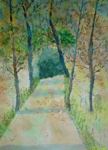 Birgitt Lange, Herbstwald, Landschaft: Herbst, Natur: Wald