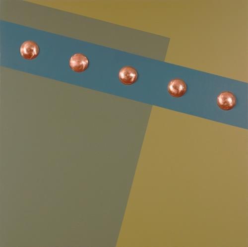Kevork George Kassabian, 4- Copper Rivets, Abstraktes, Minimal Art, Abstrakter Expressionismus