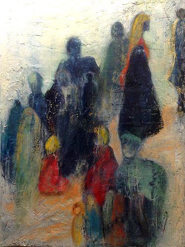 Isabel Zampino, Menschen, die meinen Weg kreuzen, Menschen: Gruppe, Gesellschaft, Gegenwartskunst, Expressionismus