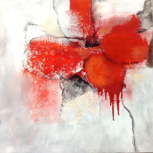 Isabel Zampino, Rote Pause, Pflanzen: Blumen, Diverses, Gegenwartskunst, Expressionismus