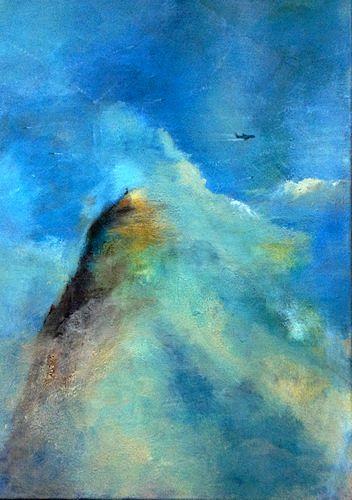 Isabel Zampino, enjoy the silence, Landschaft: Berge, Gefühle: Stolz, Gegenwartskunst, Expressionismus
