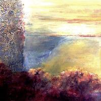 Isabel-Zampino-Landschaft-Ebene-Romantik-Sonnenuntergang-Gegenwartskunst-Gegenwartskunst