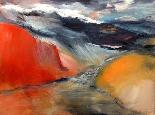 Isabel Zampino, Schnee in den Bergen, Landschaft: Berge, Landschaft: Sommer, Gegenwartskunst