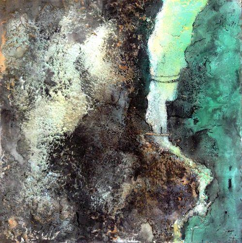 Isabel Zampino, Durchquerung der Schlucht, Landschaft: Berge, Natur: Gestein, Gegenwartskunst