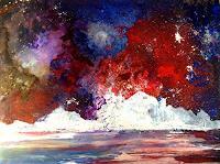 Isabel-Zampino-Landschaft-Winter-Natur-Feuer-Moderne-Expressionismus