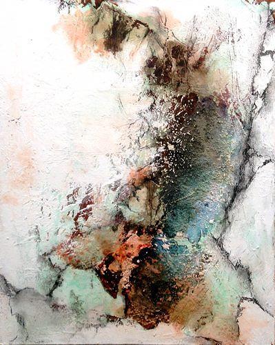Isabel Zampino, Felsen, Stein, Schnee, Landschaft: Winter, Natur: Gestein, Gegenwartskunst, Expressionismus