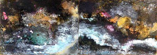 Isabel Zampino, Fels, Stein, Wasser V, Natur: Gestein, Natur: Wasser, Gegenwartskunst