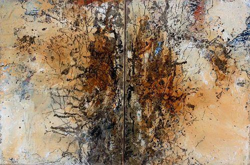 Isabel Zampino, Fels, Stein, Wasser VI, Natur: Gestein, Natur: Wasser, Gegenwartskunst