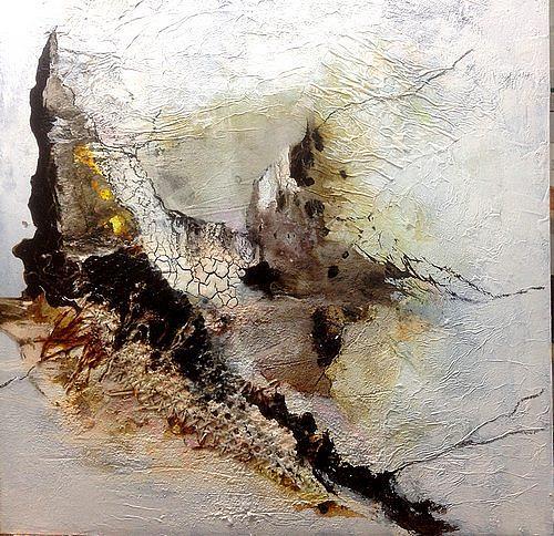 Isabel Zampino, Sturm, Landschaft: Berge, Natur: Gestein, Gegenwartskunst, Expressionismus