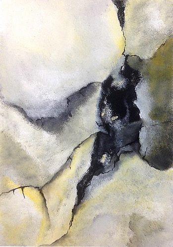 Isabel Zampino, Felsspalte, Landschaft: Berge, Natur: Gestein, Gegenwartskunst