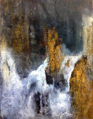Isabel Zampino, Wassermassen III, Natur: Wasser, Diverse Wohnen, Gegenwartskunst, Abstrakter Expressionismus