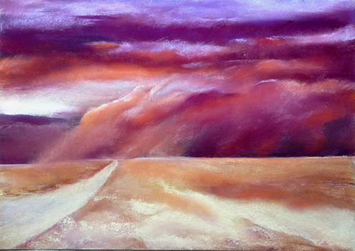 Isabel Zampino, vorne links abbiegen, Landschaft: Ebene, Natur: Diverse, Neo-Expressionismus, Expressionismus