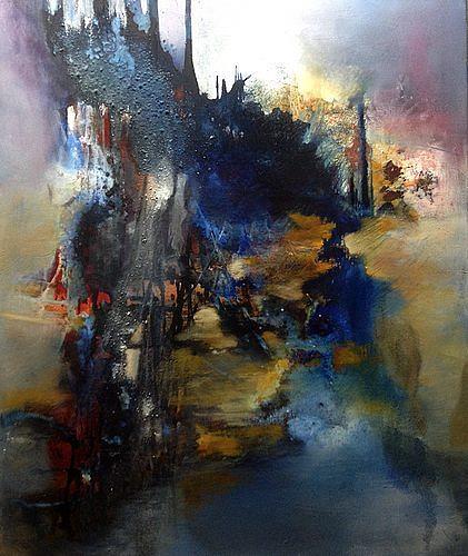 Isabel Zampino, Ein Stück des Weges, Landschaft: Sommer, Natur: Wald, Gegenwartskunst, Abstrakter Expressionismus