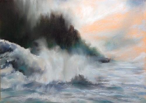 Isabel Zampino, Wassermassen, Landschaft, Natur: Wasser, Gegenwartskunst, Expressionismus