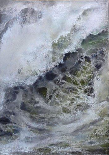 Isabel Zampino, Wassermassen IV, Natur: Wasser, Bewegung, Gegenwartskunst, Expressionismus