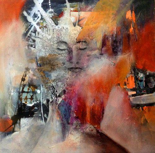 Isabel Zampino, Träumende, Menschen: Frau, Menschen: Gesichter, Gegenwartskunst, Expressionismus