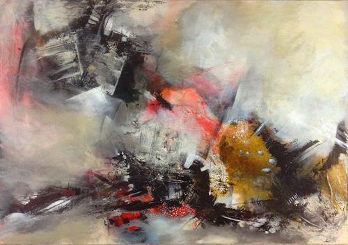Isabel Zampino, Ordnung im Chaos, Abstraktes, Arbeitswelt, Informel, Abstrakter Expressionismus