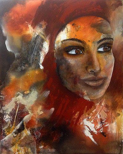 Isabel Zampino, Leyla, Menschen: Frau, Menschen: Porträt, Gegenwartskunst, Expressionismus