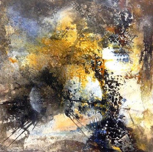 Isabel Zampino, Utopia, Landschaft: Ebene, Fantasie, Gegenwartskunst, Abstrakter Expressionismus