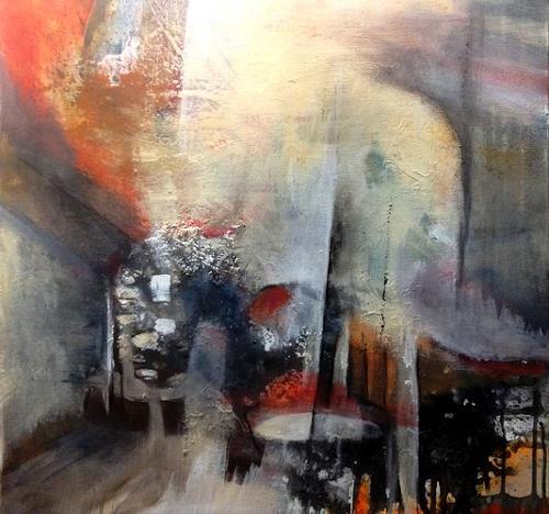 Isabel Zampino, Bummel durch die Altstadt, Diverse Bauten, Diverse Menschen, Gegenwartskunst, Abstrakter Expressionismus