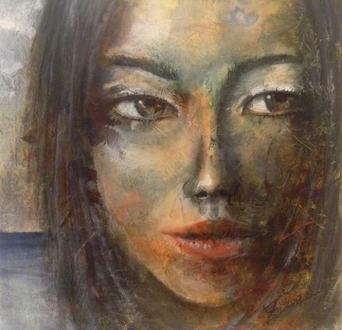 Isabel Zampino, Nami, Menschen: Frau, Menschen: Porträt, Gegenwartskunst, Expressionismus