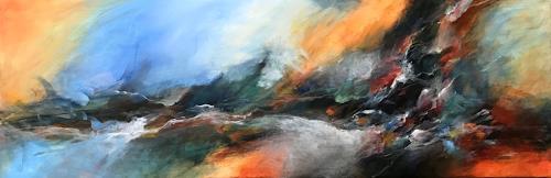 Isabel Zampino, Sturmflut II, Landschaft: See/Meer, Natur: Wasser, Gegenwartskunst, Abstrakter Expressionismus